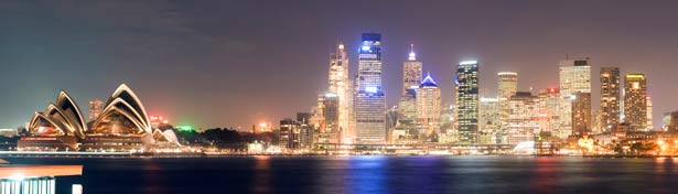 Sydney city at night time