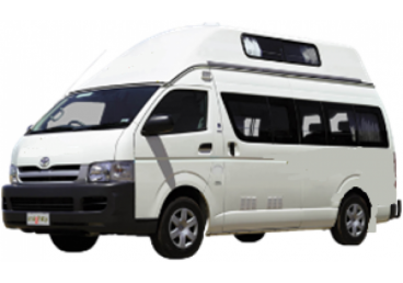 2 berth Campervan. NOTE: You may be allocated any of the vehicle types seen in the images or slight variations of these. Specific vehicle type/layouts cannot be requested. No children under 8 years old or requiring a booster or child seat.