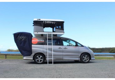 A lower mileage, 4 Berth, newer model campervan rental with improved features. Great to drive with better fuel economy, longer lasting smart battery, side awning, ABS breaks, air bags and lots more...