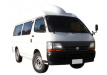 2 berth Hightop Hiace campervan or similar. Not suitable for children under 8 years old.
