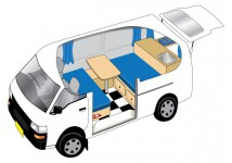 This 2 Person Campervan is a Mitsubishi Lowtop model suitable for two adults